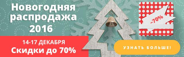 Новогодняя Распродажа курсов 2016