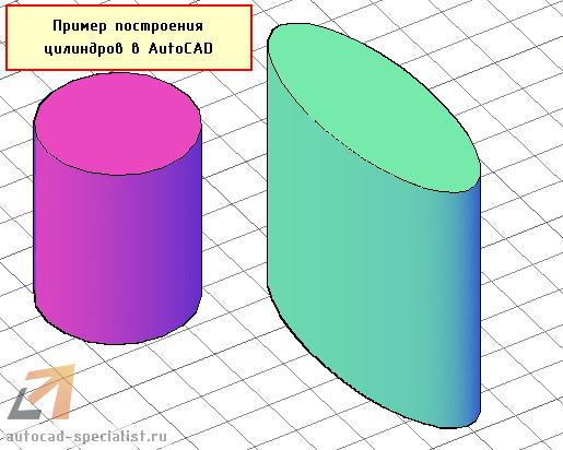 Примеры построения цилиндров в Автокаде