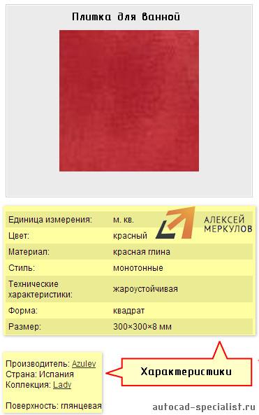 Атрибуты блока в AutoCAD