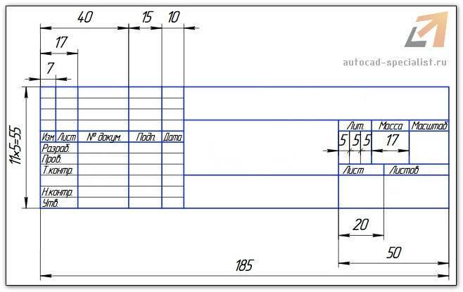 Чертежные рамки AutoCAD. Рамки для Автокада (А4, А3, А2, А1)