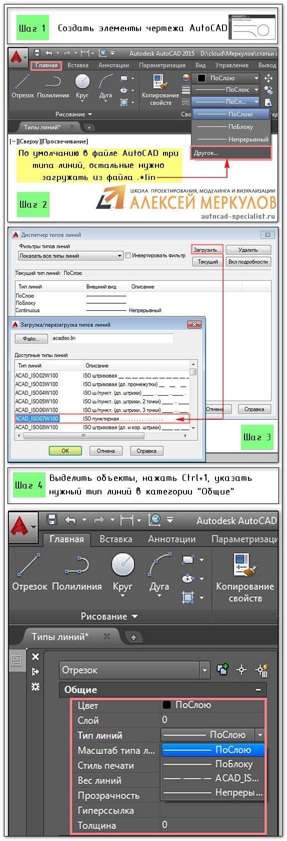 Создание нового типа линии Autodesk Autocad Проект 61